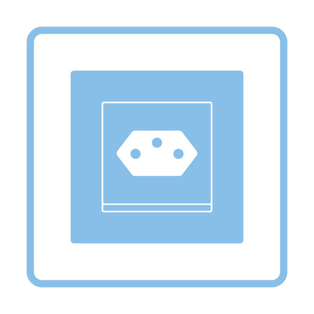Swiss electrical socket icon. Blue frame design. Vector illustration. Illustration