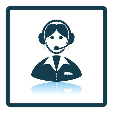 dispatcher: Logistic dispatcher consultant icon. Shadow reflection design. Vector illustration.