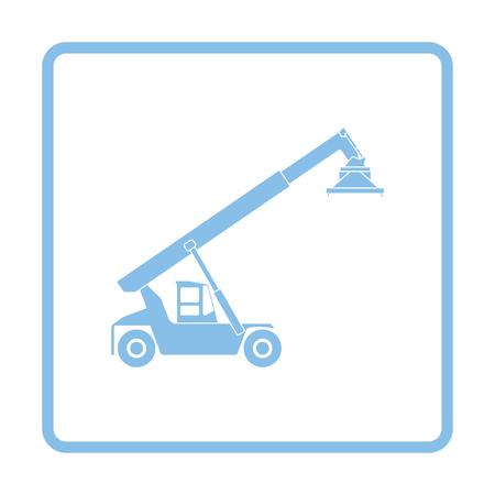 Port loader icon. Blue frame design. Vector illustration. Illustration