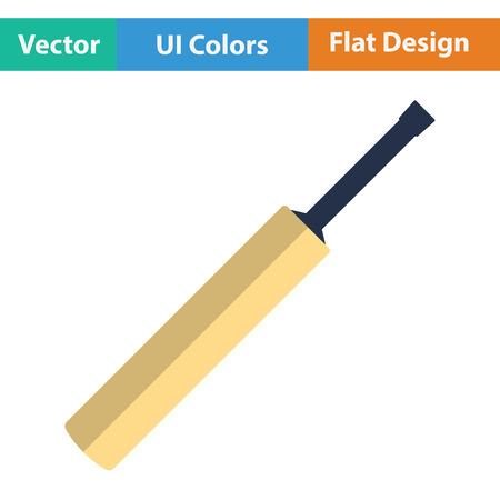 Krieketvleermuis. Plat ontwerp. Vector illustratie. Vector Illustratie