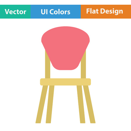 wood chair: Child chair icon. Flat design. Vector illustration. Illustration