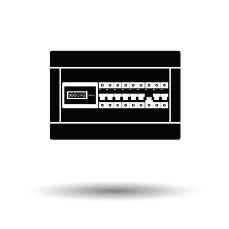 Circuit breakers vak pictogram. Witte achtergrond met schaduwontwerp. Vector illustratie.