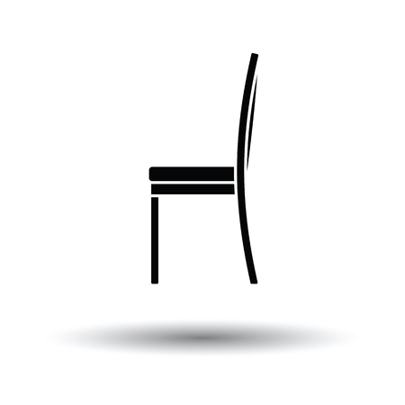wood chair: Modern chair icon. White background with shadow design. Vector illustration. Illustration