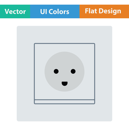 Austria electrical socket icon. Flat design. Vector illustration. Illustration