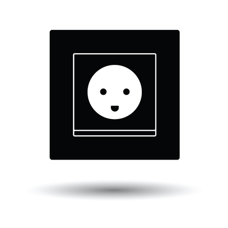Austria electrical socket icon. White background with shadow design. Vector illustration.