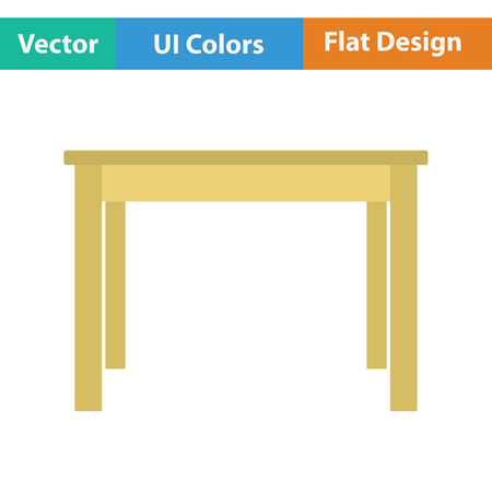 decoracion mesas: icono de mesa de la cena. Diseño plano. Ilustración del vector.
