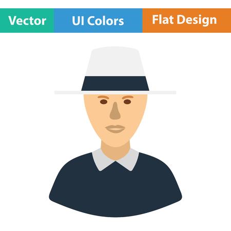 televised: Cricket umpire icon. Flat design. Vector illustration. Illustration