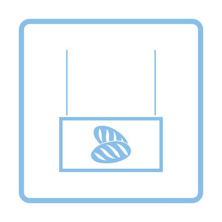 bake sale sign: Bread market department icon. Blue frame design. Vector illustration. Illustration