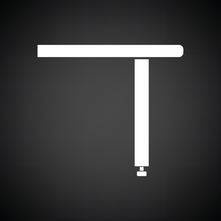 console table: Briefing table console icon. Black background with white. Vector illustration.