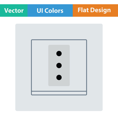 Italy electrical socket icon. Flat design. Vector illustration.