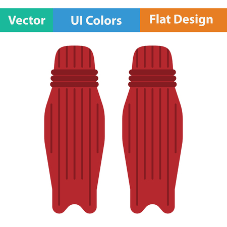 Cricket leg protection icon. Flat design. Vector illustration.