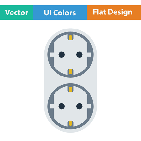 AC splitter icon. Flat design. Vector illustration.