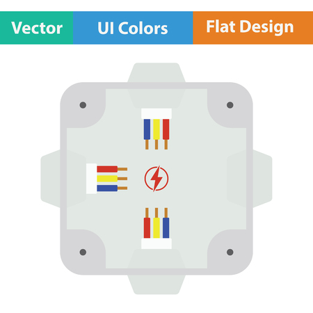Electrical  junction box icon. Flat design. Vector illustration.