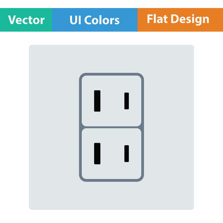 Japan electrical socket icon. Flat design. Vector illustration.