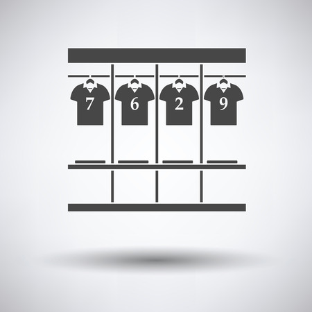 closed club: Locker room icon on gray background, round shadow. Vector illustration. Illustration