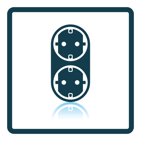 wire: AC splitter icon. Shadow reflection design. Vector illustration.