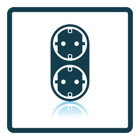 electronic circuit: AC splitter icon. Shadow reflection design. Vector illustration.