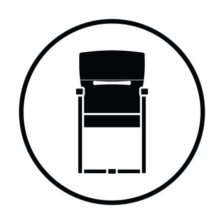 round chairs: Guest office chair icon. Thin circle design. Vector illustration.