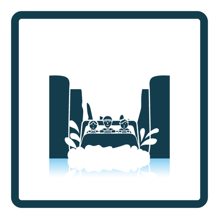 Water boat ride icon. Shadow reflection design. Vector illustration.