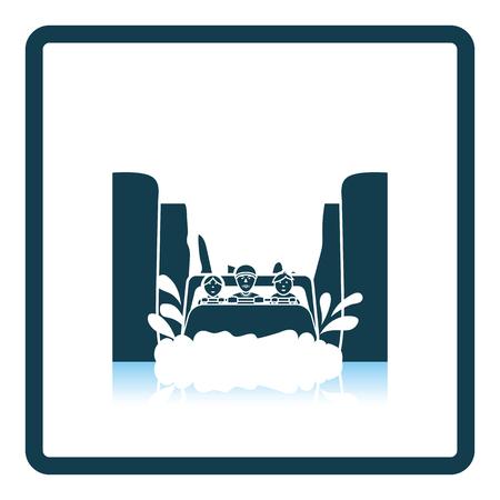 Waterbootrit icoon. Schaduw reflectie ontwerp. Vector illustratie.