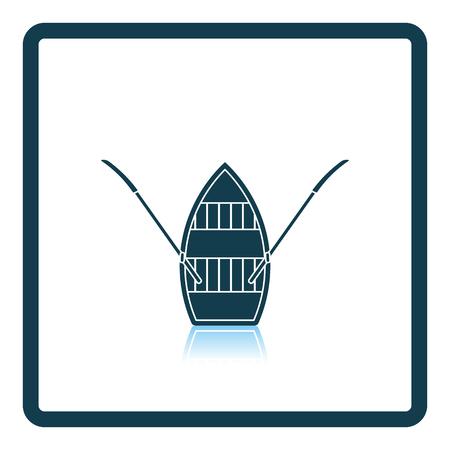 promenade: Paddle boat icon. Shadow reflection design. Vector illustration.