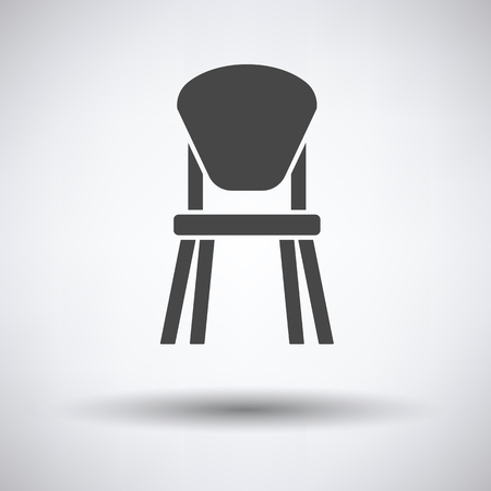 stool: Child chair icon on gray background, round shadow. Vector illustration. Illustration
