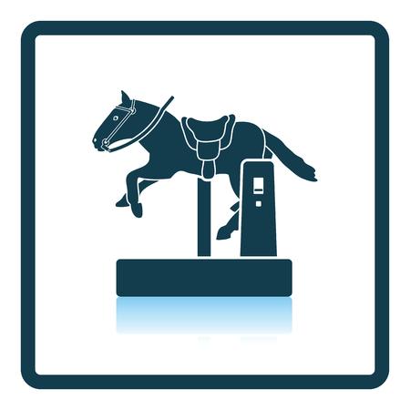 Horse machine icon. Shadow reflection design. Vector illustration.