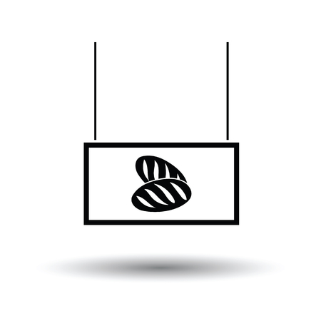 bake sale sign: Bread market department icon. Black background with white. Vector illustration. Illustration