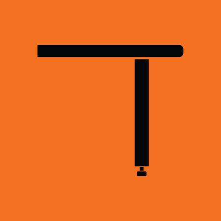 Briefing table console icon. Orange background with black. Vector illustration.