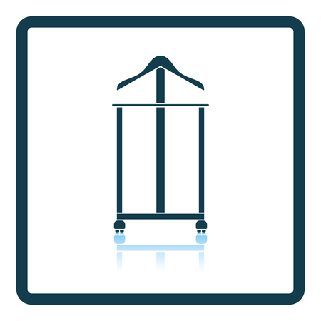 clothing rack: Hanger stand icon. Shadow reflection design. Vector illustration.