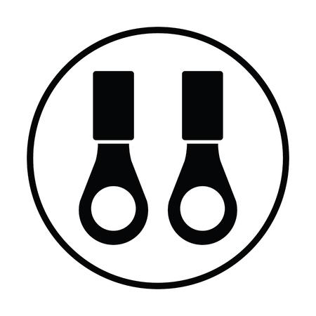 Connection terminal ring icon. Thin circle design. Vector illustration.