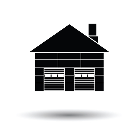 transportation facilities: Warehouse logistic concept icon. White background with shadow design. Vector illustration.