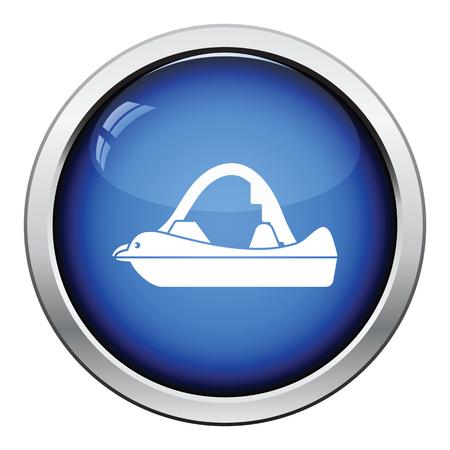 icon. Glossy button design. Vector illustration. Illustration