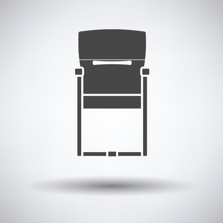 round chairs: Guest office chair icon on gray background, round shadow. Vector illustration. Illustration