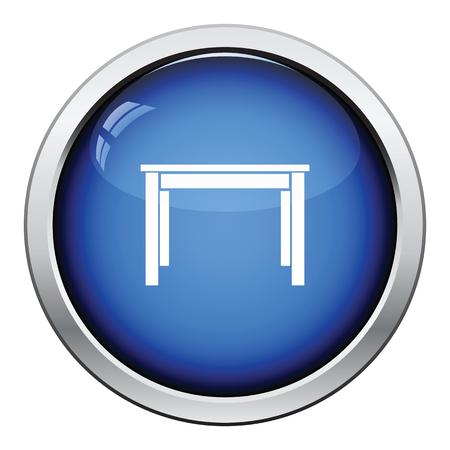 decoracion mesas: Icono de la mesa de la cena. Diseño brillante del botón. Ilustración del vector.