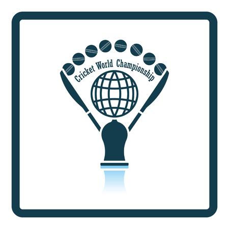 Cricket cup icon. Shadow reflection design. Vector illustration. Illustration