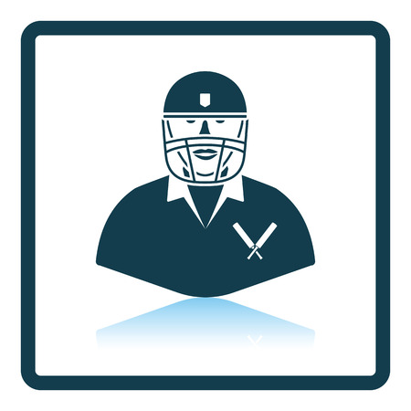 single man: Cricket player icon. Shadow reflection design. Vector illustration.