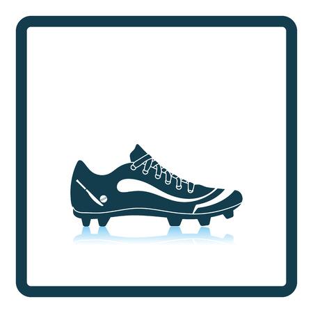 Crickets boot icon. Shadow reflection design. Vector illustration. Illustration