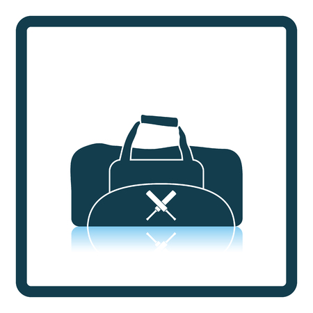 Cricket bag icon. Shadow reflection design. Vector illustration.