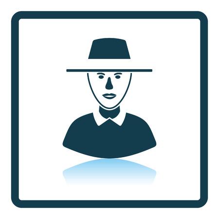 umpire: Cricket umpire icon. Shadow reflection design. Vector illustration. Illustration