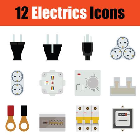 Icône d'électrodomestiques design plat dans les couleurs de l'ui. Illustration vectorielle