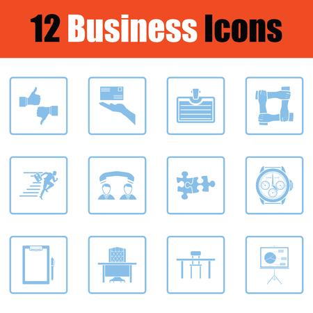 justice scale: Business icon set. Blue frame design. Vector illustration. Illustration