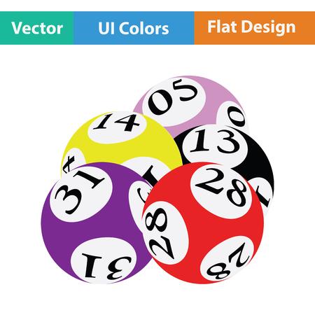 Lotto balls icon. Flat color design. Vector illustration. Vektorové ilustrace