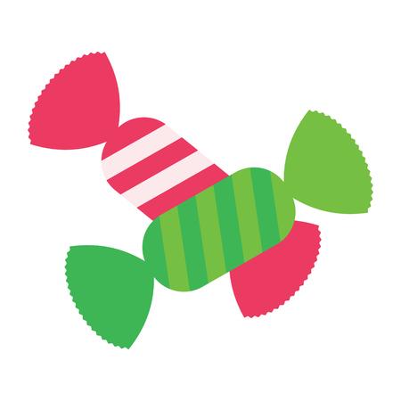 Süßigkeiten-Symbol. Flaches Farbdesign. Vektor-Illustration.