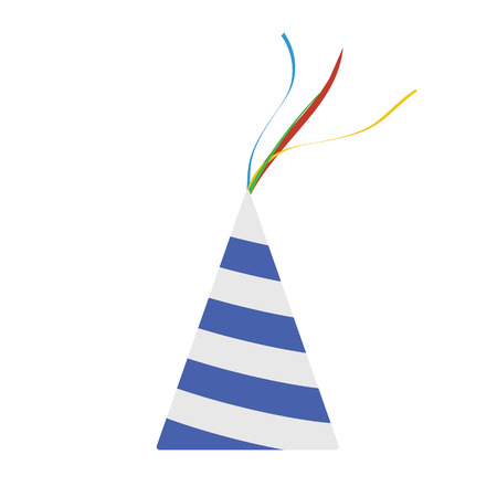 Party cone hat icon. Flat color design. Vector illustration. Illustration