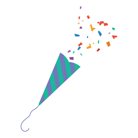 Party petard  icon. Flat color design. Vector illustration. Illustration