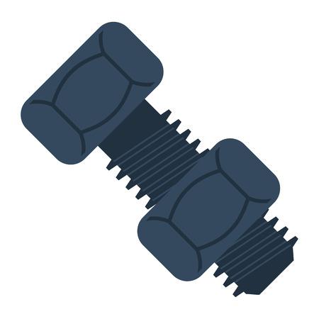 ボルトとナットのアイコン。フラットカラーデザイン。ベクトルイラスト。  イラスト・ベクター素材