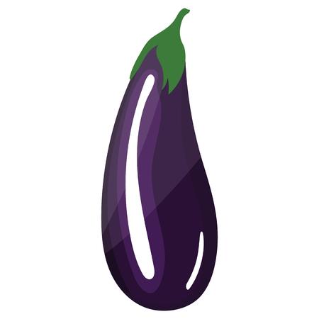 Eggplant  icon. Flat color design. Vector illustration.