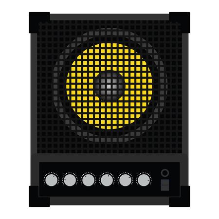 Audio monitor icon. Flat color design illustration.