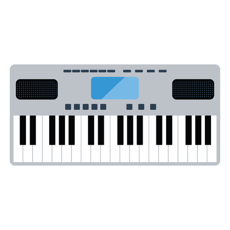 Music synthesizer icon. Flat color design illustration.
